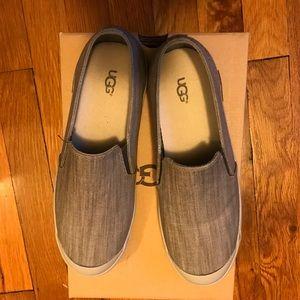 Brand new Ugg Gray slip-ons